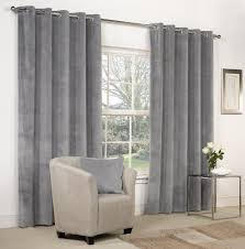 Steel Grey Curtains Dove Grey Velvet Ring Top Eyelet Curtains 66 X 90 Fully