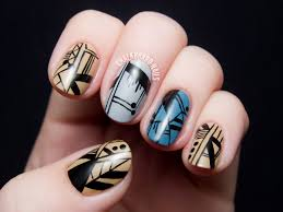 7 lines nail designs line nail art on pinterest white nail art