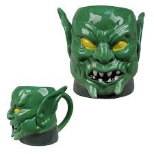 spider man green goblin marvel molded 16 oz mug surreal