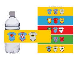 batman baby shower decorations baby shower water bottle labels bottle wrapper instant