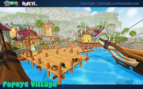 popeye village artstation kuboo popeye village tyler agte