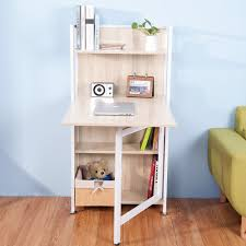 Small Computer Desk With Shelves Folding Computer Desk Fantastic In Small Space New Furniture