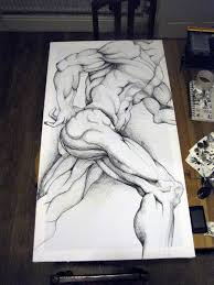 michelangelo sketch on canvas by thefranology on deviantart