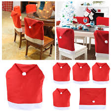 Santa Chair Covers Aliexpress Com Buy New Year Santa Red Hat Dining Chair Covers