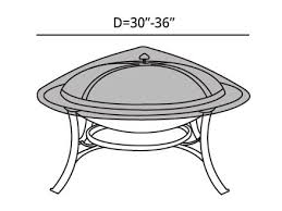 Firepit Top Pit Top Cover 30 36 Diameter Green Cover Store