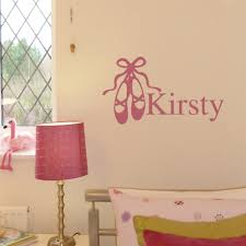 girls personalised wall stickers and decals