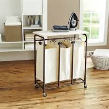 honey can do folding table laundry sorter with table jeremybyrnes