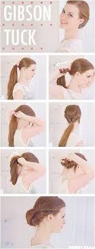 tuck in hairstyles hair tutorials to have gibson tuck hair tutorials pretty designs