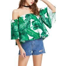 green womens blouse fccexio 2017 s summer green blouse ruffles shirts