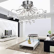 Crystal Flush Mount Ceiling Light Fixture by Loco Modern Crystal Chandelier With 11 Lights Chrom Flush Mount
