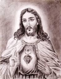 pencil sketches of jesus pencil art drawing