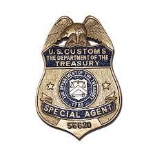 u s customs treasury department s replica wooden badge plaque