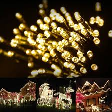 100 outdoor solar led string lights outdoor solar string lights by firstlights â christmas patio