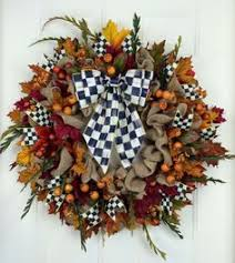 fall wreath mackenzie childs ribbon wreath by ivysagedesigns a