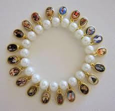 religious bracelet religious bracelet saints bracelet with 21