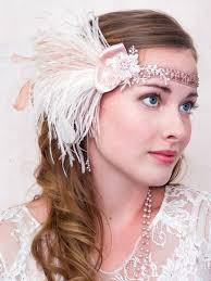 gatsby headband pink parfait ostrich feather headband great gatsby style