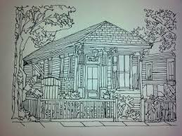 saatchi art shotgun house new orleans style drawing by pamela starr