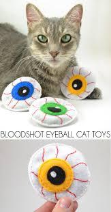 bloodshot eyeball catnip toys for halloween dream a little bigger