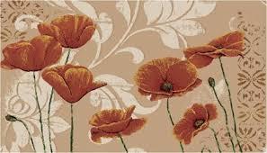 marvelous poppy kitchen rug poppies rug roselawnlutheran envialette