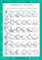 counting by 3s 4s and 5s ii math practice worksheet grade 2