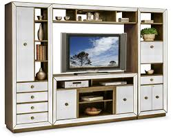 living room storage cabinets american signature furniture reflection 4 piece entertainment wall unit mirror