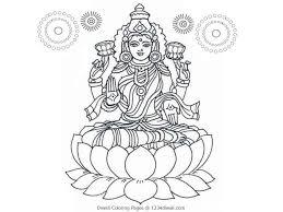 diwali coloring pages lakshmi mata bebo pandco