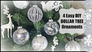 diy dollar tree glam ornaments home decor easy