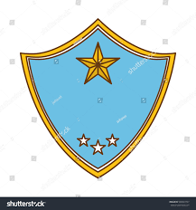 blue police badge icon image vector stock vector 568993747