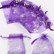 purple gift bags purple butterfly organza colors gift bags jewelry wedding favors