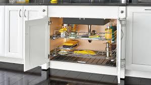 under the kitchen sink storage ideas under sink storage ideas that avoid plumbing woodworker access