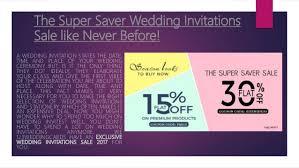 wedding invitation sle the saver wedding invitations sale like never presentation