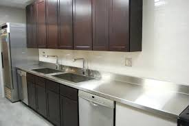 stainless steel countertop with built in sink interior stainless steel countertops solpool info
