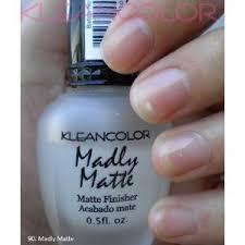 amazon com kleancolor nail polish madly matte top nail coats