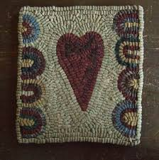 Wool Hand Hooked Rugs 97 Best Heart Hooked Rugs Images On Pinterest Primitive Hooked