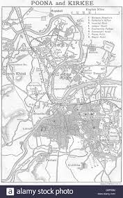 Pune India Map by British India Sketch Maps Of The Cities Of Poona Pune U0026 Kirkee