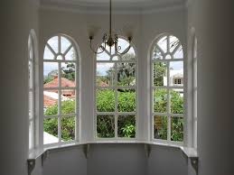 contemporary arched window frame white with mirror to design