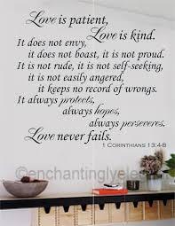 enchantingly elegant love is patent love is kind bible verse wall enchantingly elegant love is patent love is kind bible verse wall decal