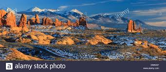 Utah scenery images Winter scenery in arches national park near moab utah usa jpg