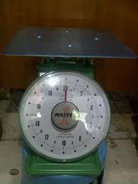 harga timbangan duduk merk master one kapasitas 20kg pan size 24cm x