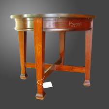 Round Table Kerman Rare Round Roycroft Table W1982 Joenevo
