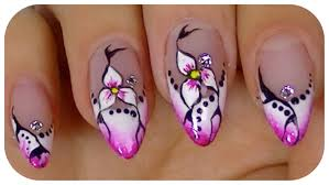 17 nail art flower designs videos step by step lovely step by