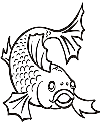 cartoon fish coloring pages coloring