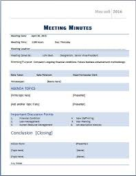 meeting minutes templates ms word formal meeting minutes template word excel templates