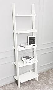 Short Ladder Bookcase Leitern White 5 Tiered Ladder Shelf Bookcase Display Unit Amazon