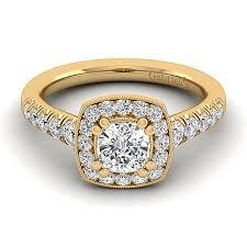 gold halo engagement rings halo engagement rings with yellow gold diamonds gabriel co