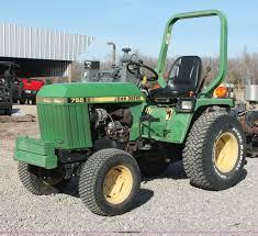 1988 john deere 755 mfwd tractor item ao9487 sold april