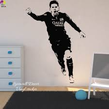 popular messi barcelona soccer buy cheap messi barcelona soccer lionel messi barcelona football player wall sticker bedroom boys room argentina soccer sport athlete wall decal