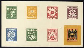 1920 deutsches reich 5pf 1 50m german eagle designs proof