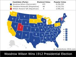 2000 Presidential Election Map by 1912 Presidential Election Result Woodrow Wilson Democratic
