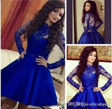 blue graduation dresses 2016 stylish royal blue graduation dresses illusion sleeves